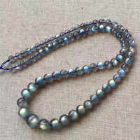 Natural Labradorite Strong Blue Light Gems Stone Charming Necklace 5 10mm AAAA