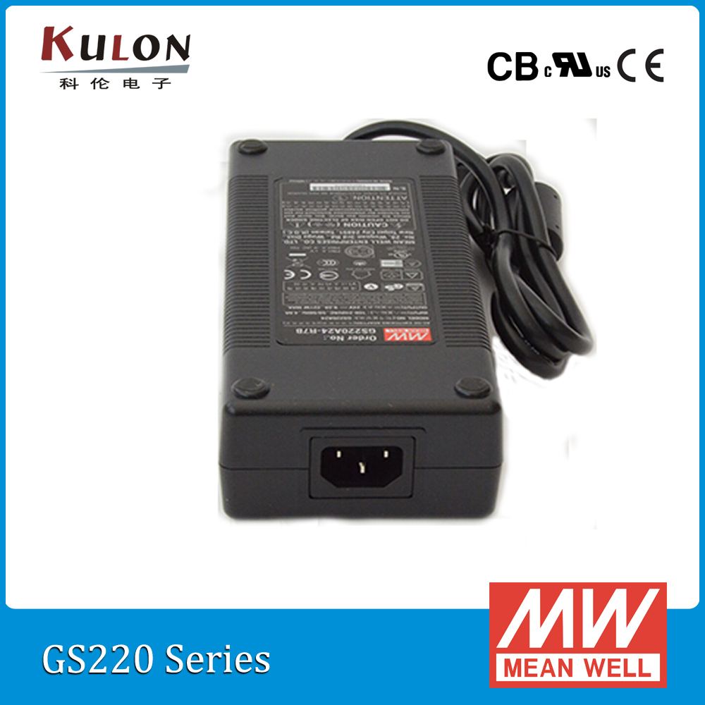 Originale Mean Well GST220A24-R7B 220 W 24 V 9.2A alta affidabilità Livello V Meanwell desktop Adattatore