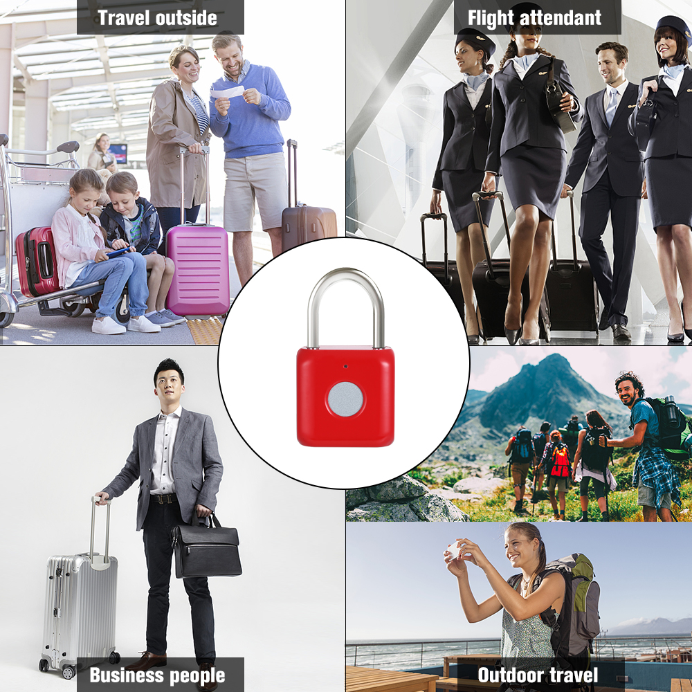Image 2 - USB Charging Keyless Fingerprint Padlock Intelligent Electronic Non password Finger Touch Lock Biometric Unlock Waterproof-in Electric Lock from Security & Protection
