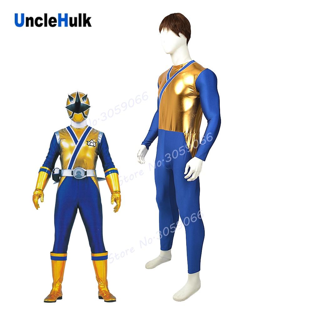 Samurai Sentai Shinkenger Shinken Golden Ranger Lycra Zentai Cosplay Costume | UncleHulk