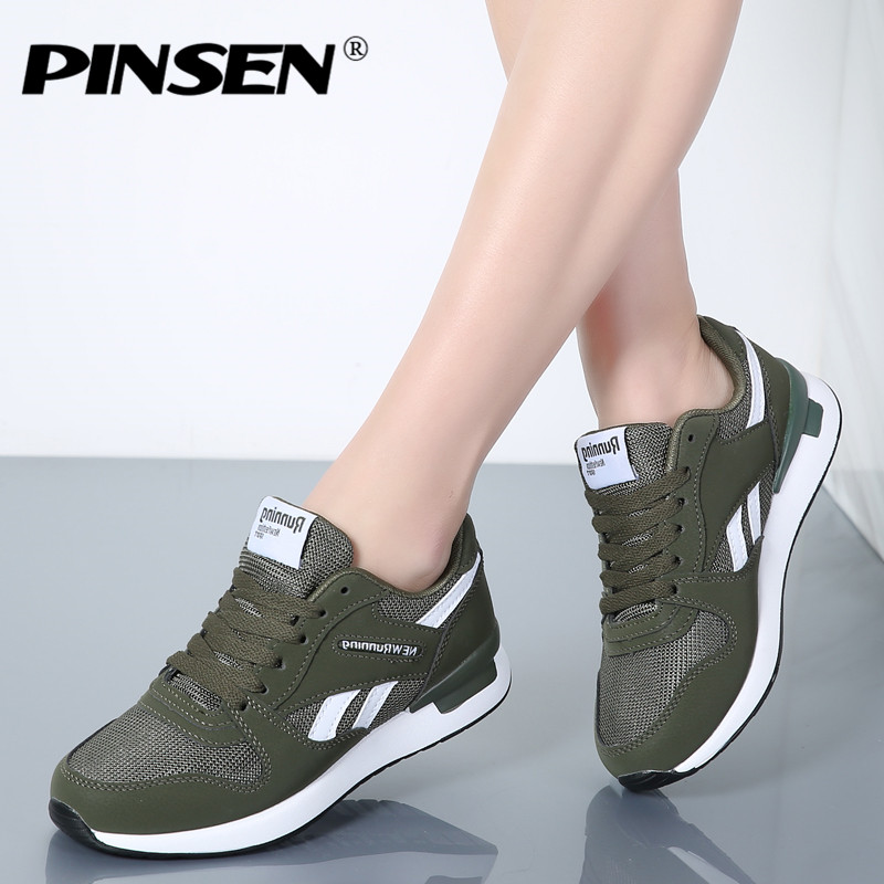 PINSEN Sneakers Women New Unisex Spring Casual Shoes Basket Flats Female Platform Shoes Woman Trainers Shoes Chaussure Femme hot new 2018 spring autumn wedges high heels ladies casual shoes vulcanize women slip on platform shoes female chaussure femme