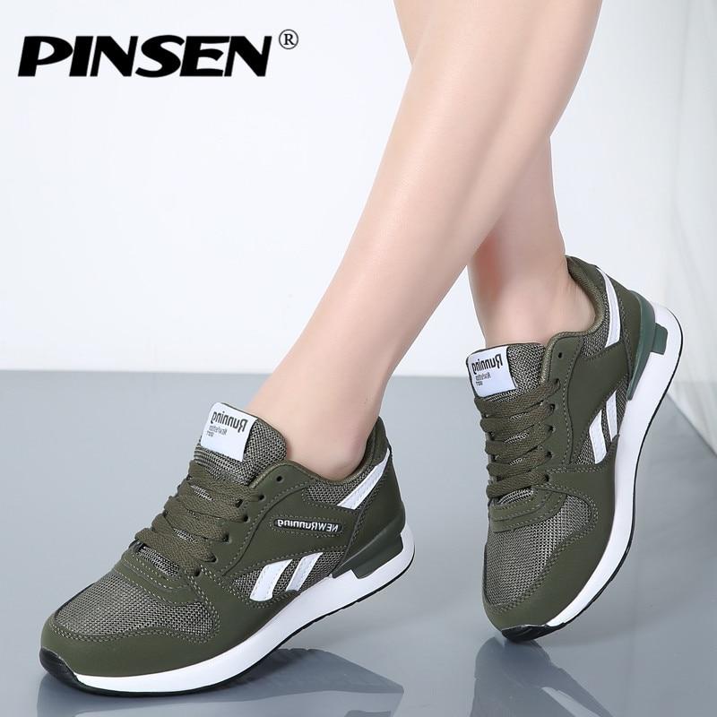 PINSEN Sneakers Femmes Nouveau Unisexe Printemps Casual Chaussures Panier Appartements Plate-Forme des Femmes Chaussures Femme Baskets Chaussures Chaussure Femme