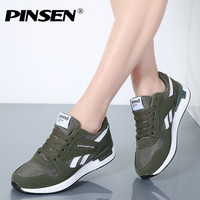 PINSEN Sneakers Women New Unisex Spring Casual Shoes Basket Flats Female Platform Shoes Woman Trainers Shoes