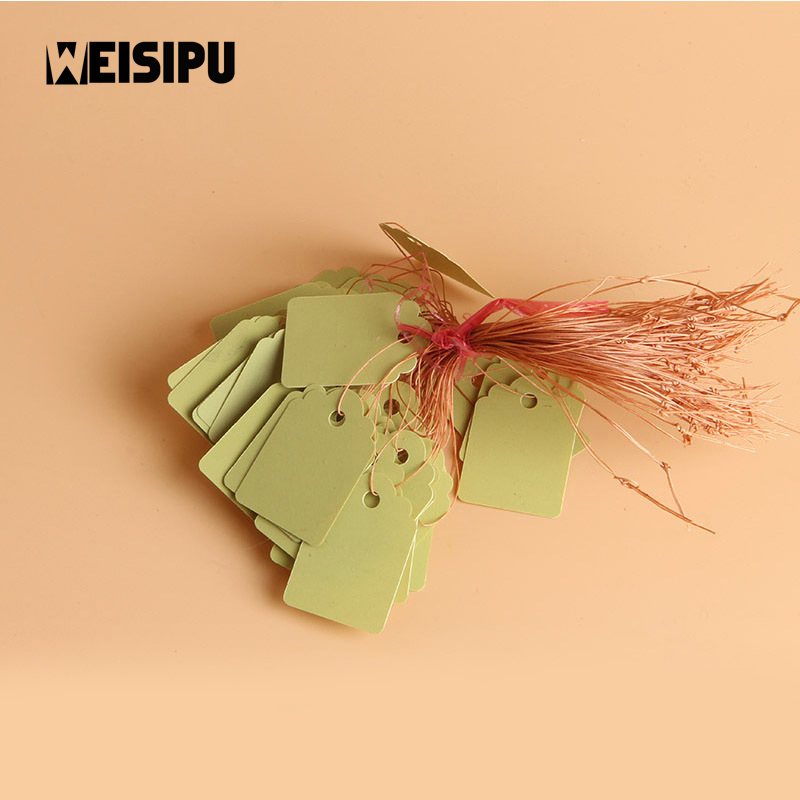 WEISIPU 100pcs/lot PVC Waterproof Strip Line Gardening Labels Signs Plant Hanging Tags Home Party DIY Decoration