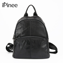 Ipinee Модные Простые Стиль дизайнер Для женщин Рюкзаки Пояса из натуральной кожи дорожная сумка бесплатная доставка