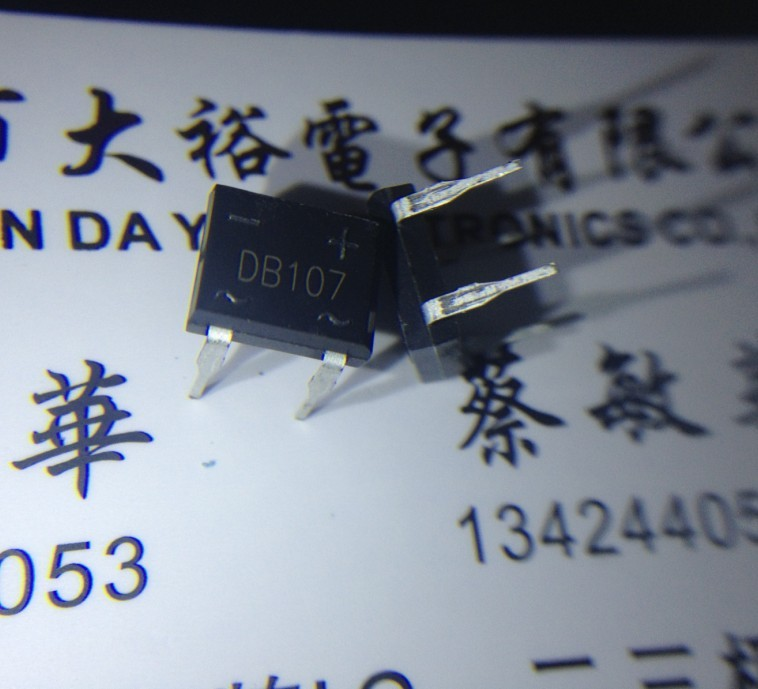 DB107 DIP-4 1A 1000V in line bridge rectifier bridge SEP new large price advantages--DYDZ2