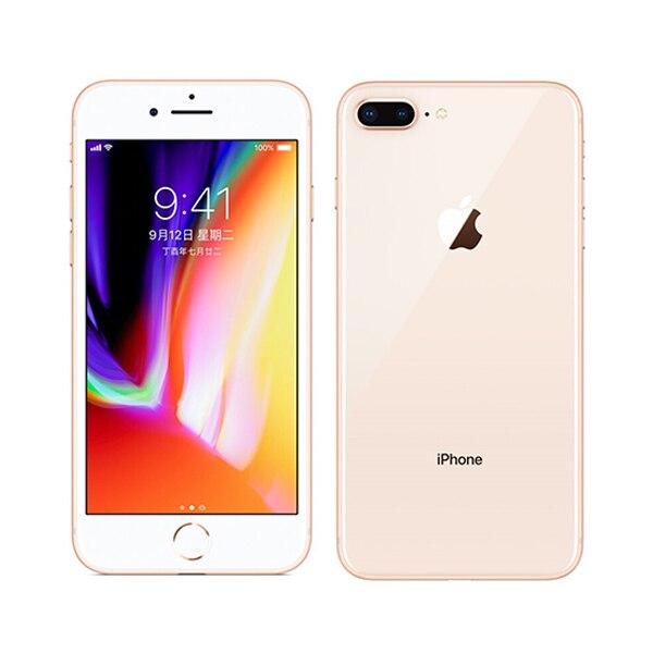 Apple iphone 8 плюс гекса Core iOS 3 GB Оперативная память 64/256 GB Встроенная память 5,5 дюйма телефона 12MP отпечатков пальцев 2691 mAh LTE мобильный телефон - Цвет: Золотой