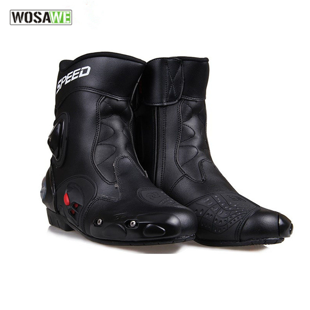 PRO-BIKER Men leather Ankle joint protection motorcycle boots shoes bota motociclist motocross Racing Motor Boots riding boots ...