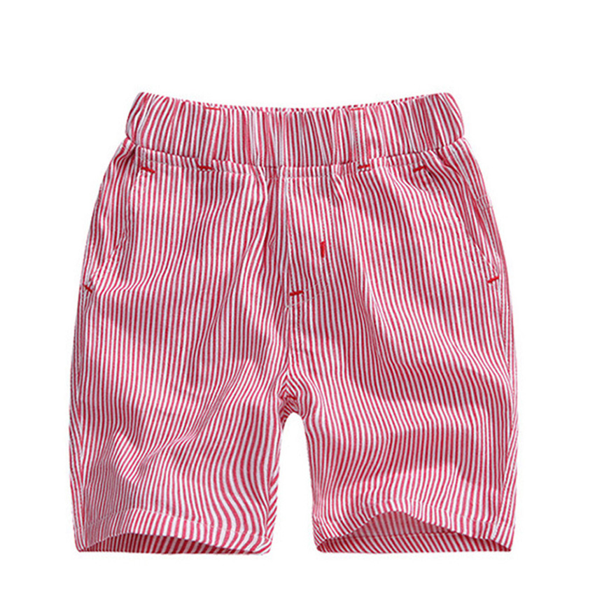 אופנה לפעוטות בייבי ילדים בני פסי כותנה ילדי מכנסיים קצרים מכנסיים קצרים בגדי קיץ נער מכנסיים רופף החוף בקיץ מזדמן