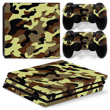 Green Camo Game Cover Decal Sticker for PS4 Playstation 4 pro Console Skin