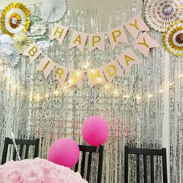 1x2 Meters Foil Fringe Tinsel Curtain Tassel Wedding Christmas