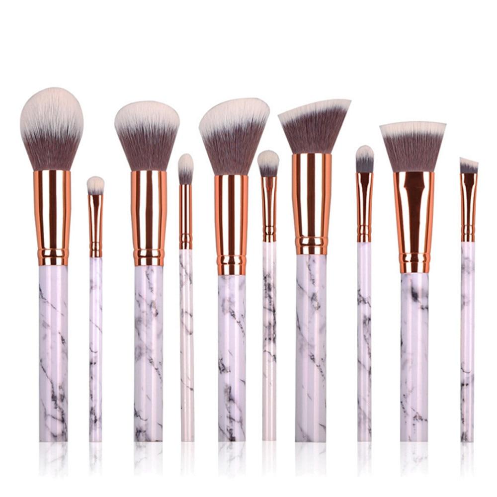 2017 Hot Fashion New Pro 10 Pcs Cosmetic Makeup Brush Blusher Eye Shadow Brushes Set Kit