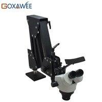 GOXAWEE 7X 45X стерео микроскоп с жесткой алюминиевой подставкой ювелирный микроскоп зубной микроскоп для Ювелирные изделия решений