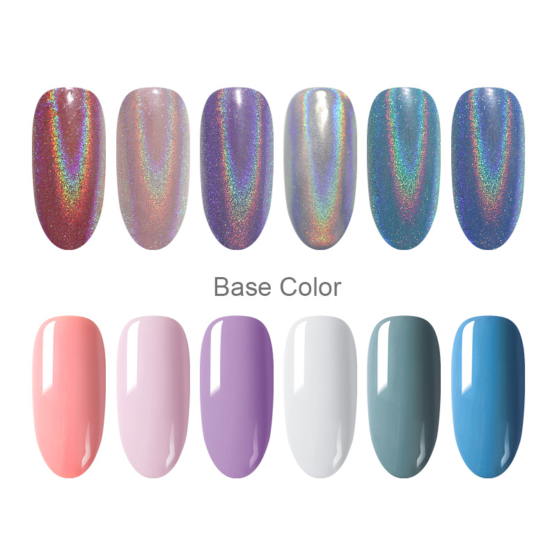 0 5g Box Holographic Nail Glitter Powder Laser Colorful Shimmer Nail Pigment Dust DIY Nail Art Decorations Design Tools in Nail Glitter from Beauty Health