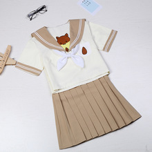 Student Uniforms New Style Japanese Two Sailor Suit Female College Class JK Uniform Pleated Skirt Set