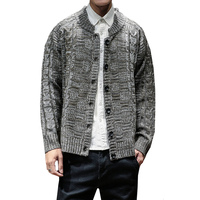 Sweater Men Solid Color Slim Fit Knitting Sweaters Cardigan Male Autumn Winter Fashion Casual Tops Hots plus size sweater 5XL