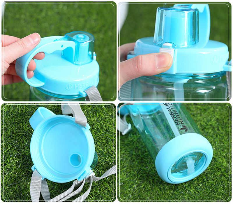 1000 مللي تريتان BPA الحرة الوردي الأحمر المحمولة الفضاء زجاجة ماء هيرباليفي التغذية البلاستيك الرياضة زجاجات الرج الخاصة زجاجاة بقشة