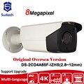 Original Versión de Ultramar DS-2CD4A85F-IZHS (2.8 ~ 12mm) IP67 50 m IR Bala Cámara de 8MP HD resolución PoE hikvision lente motorizado