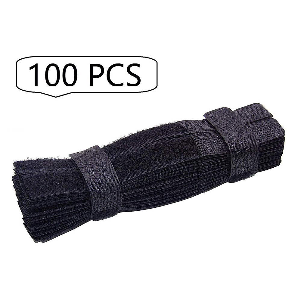 NYFundas 100PCS Cable Ties Reusable Fastening Cable Straps Strips Wire Organizer Cord Rope Holder for Laptop PC TV Accessories Зарядное устройство