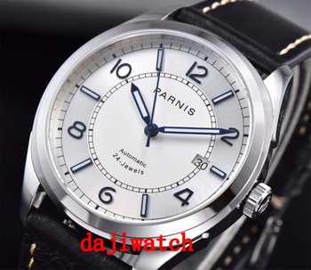 42mm Parnis Sapphire Crystal Calendar Japan Automatic Mechanical Mens Watch - DISCOUNT ITEM  20% OFF All Category