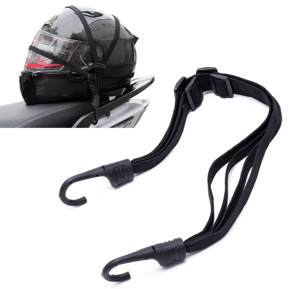 2 Hooks Motorcycles Moto Strength Retractable Helmet Luggage Elastic Rope  Strap(China)