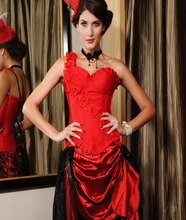 Black Rose One Shoulder Corset with Cup