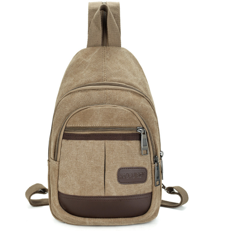 Multi-functional Men Canvas Bag Chest Pack Business Backpack Foldable Waterproof Knapsack Solid Vintage Male Bags