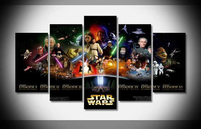 p1190 star wars poster framed gallery wrap art print home wall decor