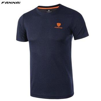 d8f38bd96b1cf Camisetas de tenis para hombre camisetas deportivas al aire libre cuello  redondo secado rápido transpirable correr bádminton camisetas de manga  corta para ...