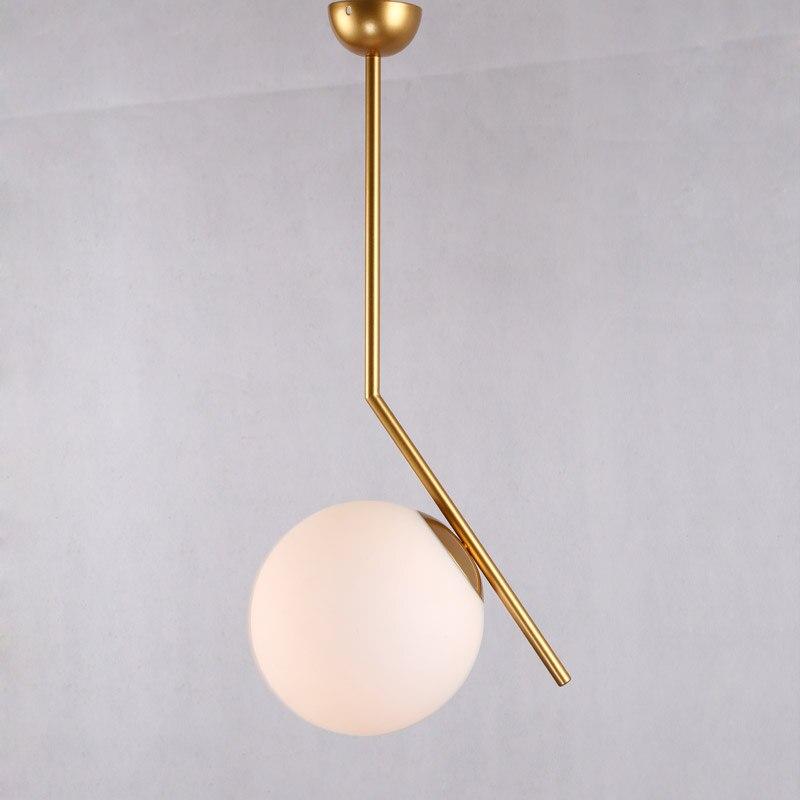 Modern Design Pendant Light Fixtures Nordic Lustres Living Room Kitchen Foyer Gold Lamp Glass Lampshade Decor Home Lightinng E27
