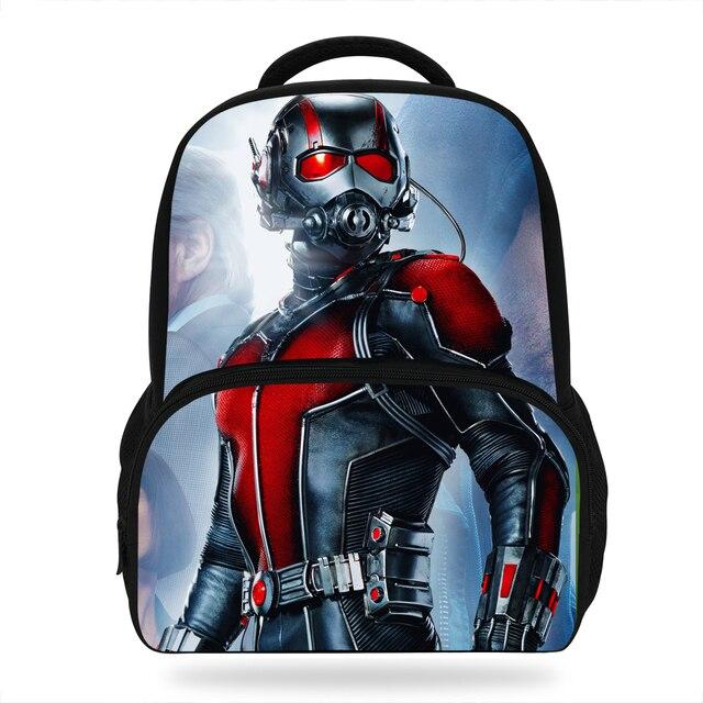 14Inch Cool Super Hero Backpacks For Teenagers Ant Man Bag For Boys Girls  Children School Bookbags For Kids b501da4101481