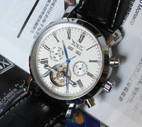 Wholesale 2012 New White Luxury Army Military Automaical Mens Mechanical Wrist Watch Freeship