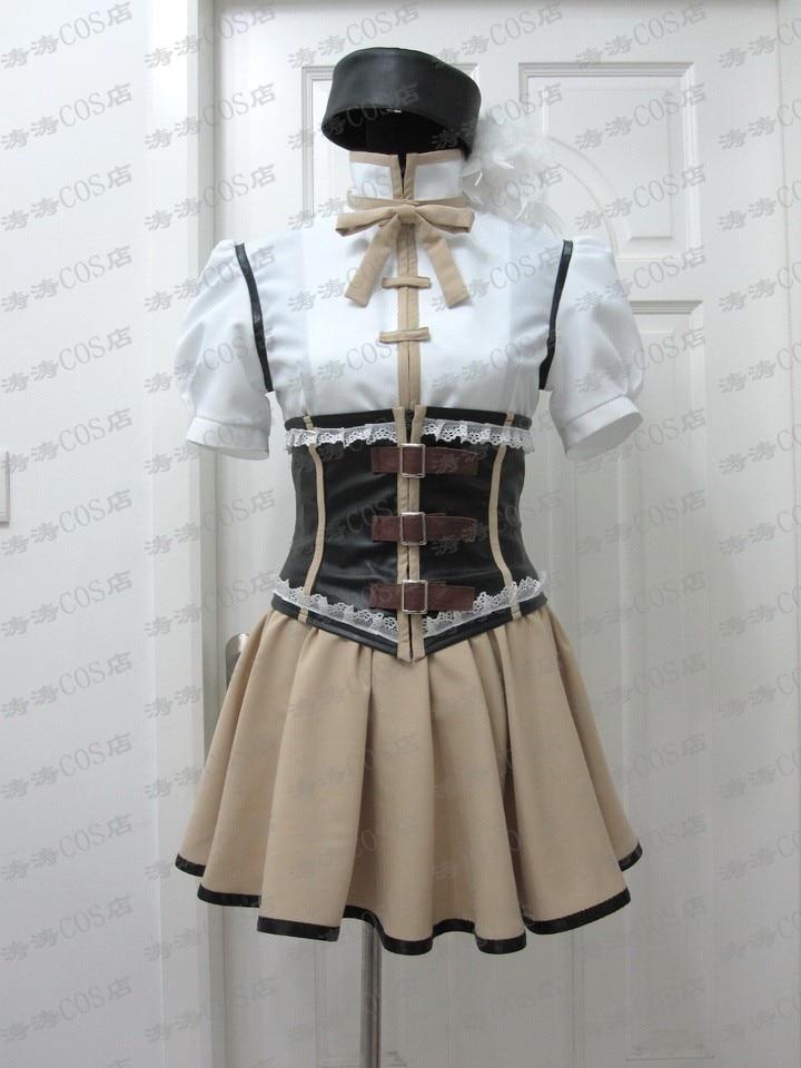Anime Puella Magi Madoka Magica Tomoe Mami Cosplay Costume Custom Any Size Halloween