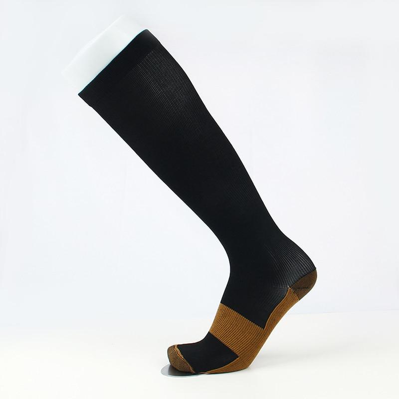Jeseca New Unisex Stockings Compression Underwear Pressure Varicose Vein Stocking Knee High Support Stretch Pressure Circulation