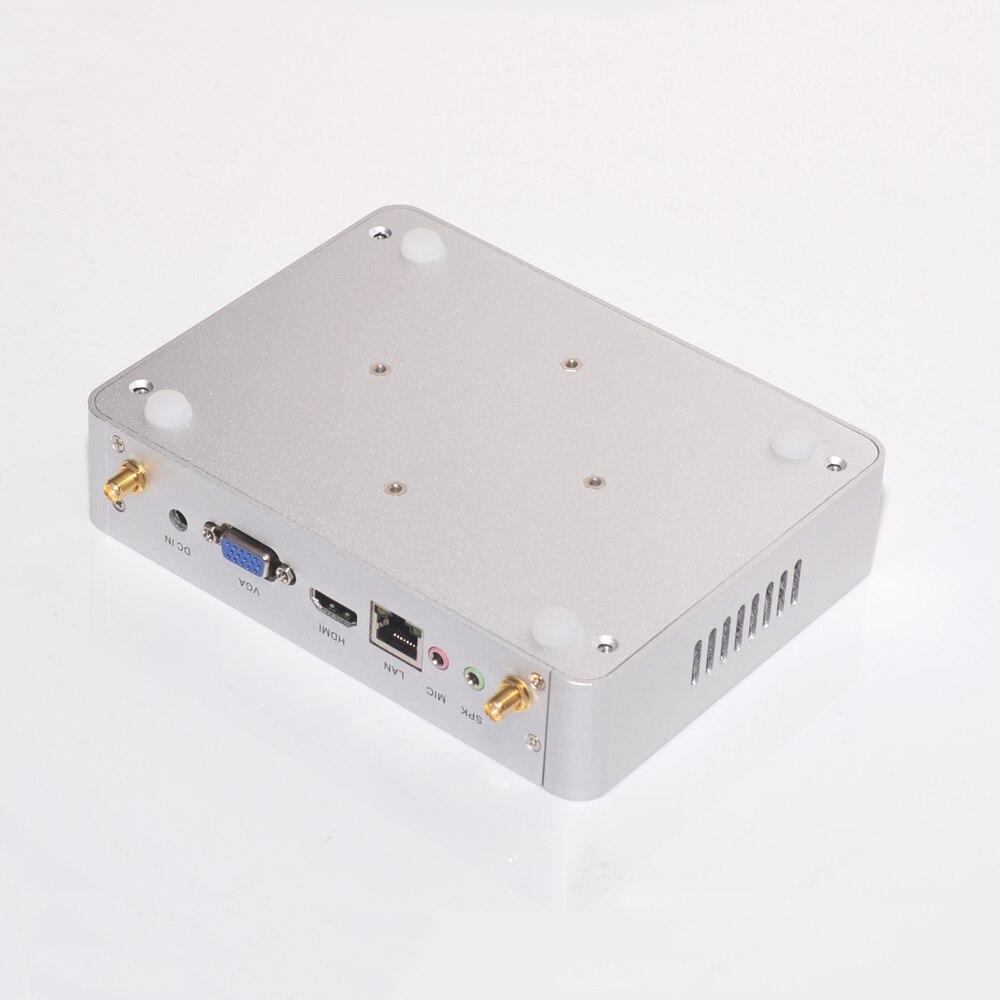 Kingdel дешевые мини-ПК Intel Core i5 4200y 4 ГБ Оперативная память mSATA 4 К Безвентиляторный Mini ITX PC Оконные рамы HTPC ТВ Wintel коробка