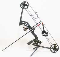 Black Dream Aluminum Alloy Compound Bow With 20 60 lbs Draw Weight