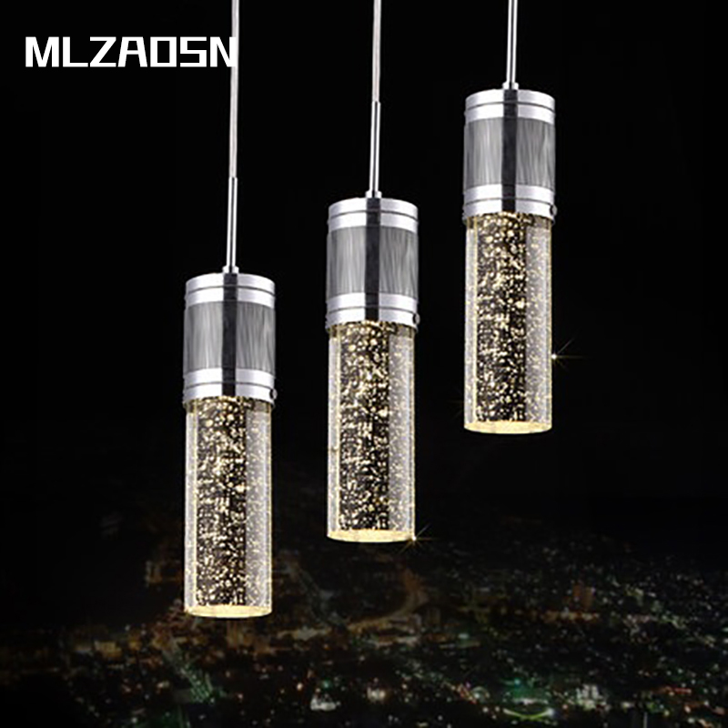 Mlzaosn Led Lamps Bubble Column Minimalist Restaurant