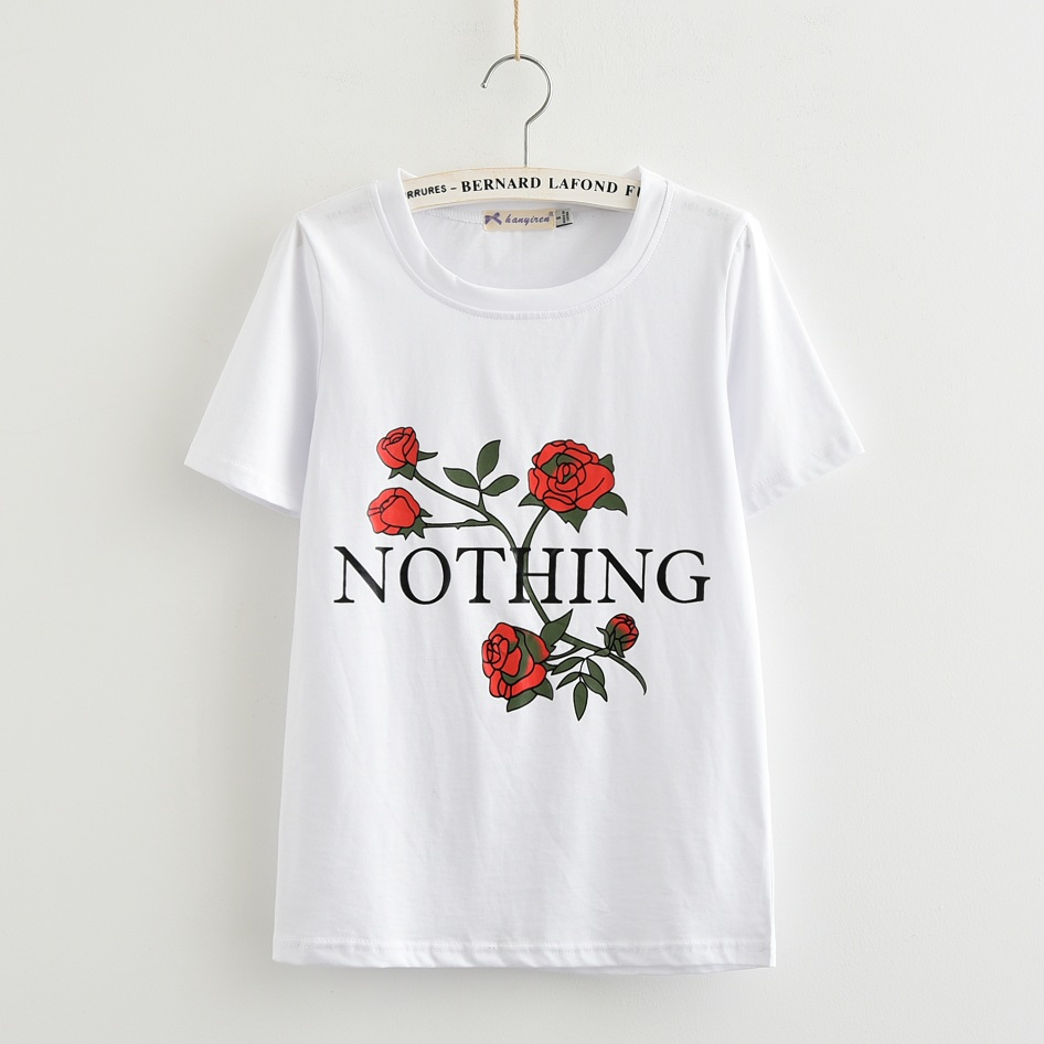 HTB1nLWpRpXXXXcGXXXXq6xXFXXXF - Nothing Rose Women T Shirt