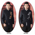 Бесплатная Доставка Китайской Традиции Дракон мужская Мандарин Хлопок Кунг-Фу Пальто Куртки Ml XL XXL 3XL DY01