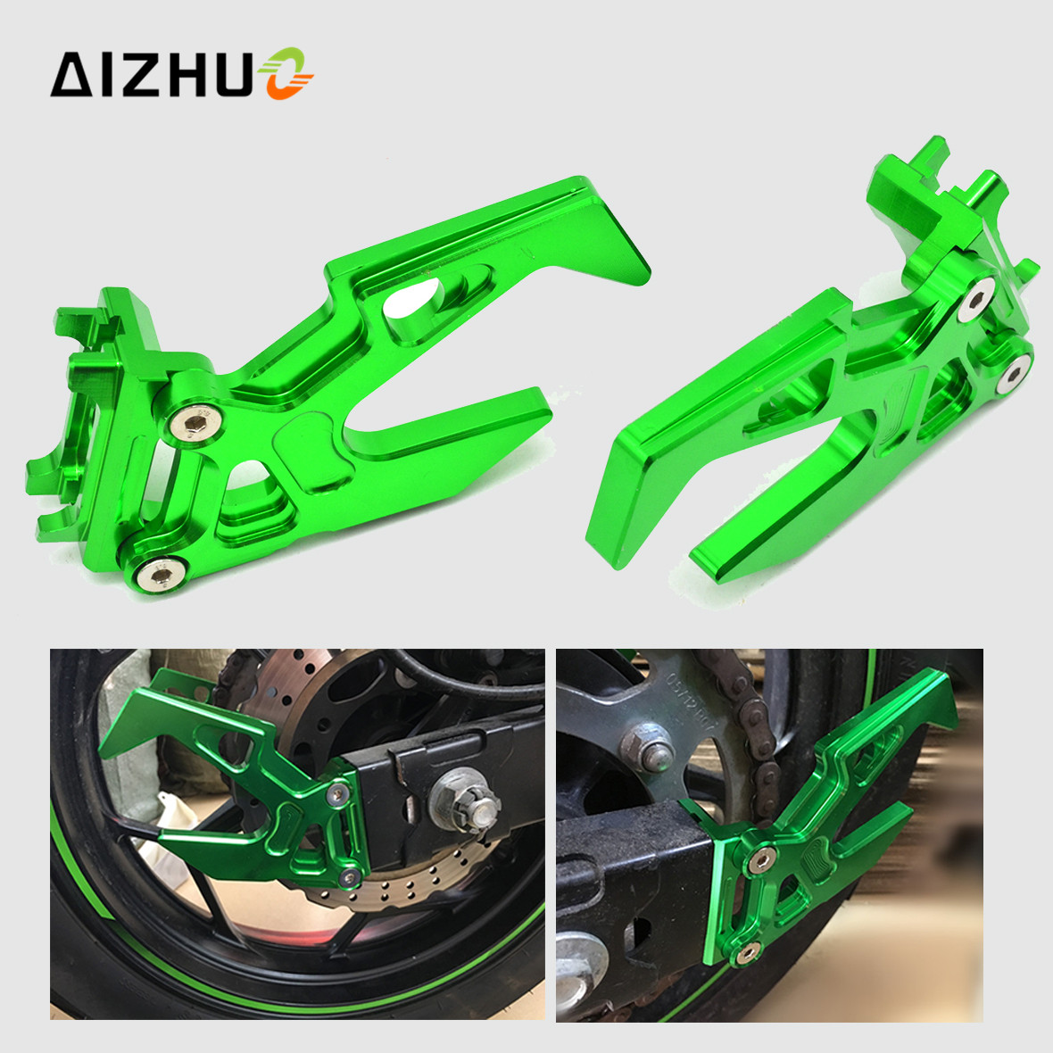 For KAWASAKI Motorcycle Chain Adjuster Tensioner Autobike Chain Regulator ninja300 ninja 300 2013 2015 2016 2014 custom designed repsol fairings for kawasaki ninja300 2013 with free shipping