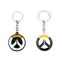 Overwatch Keychains Hot Online Game Anime Ow Key Rings Heroes Logo Chain Cabochon Cover Jewelry Dropshipping