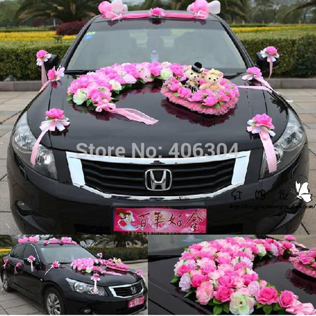 Artificial flowers1 setlotwedding car decoration set redpink artificial flowers1 setlotwedding car decoration set redpink junglespirit Images