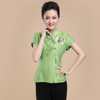 Summer New Cotton Linen Chinese Style Women Tang Suit Tops Blouse Vintage Traditional Chinese Shirt M L XL XXL XXXL 4XL  T16