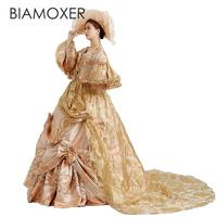 Biamoxer Adult Victorian Medieval Renaissance Costume Lolita Dress Marie Antoinette Theater Ball Gown For Halloween Custom Made