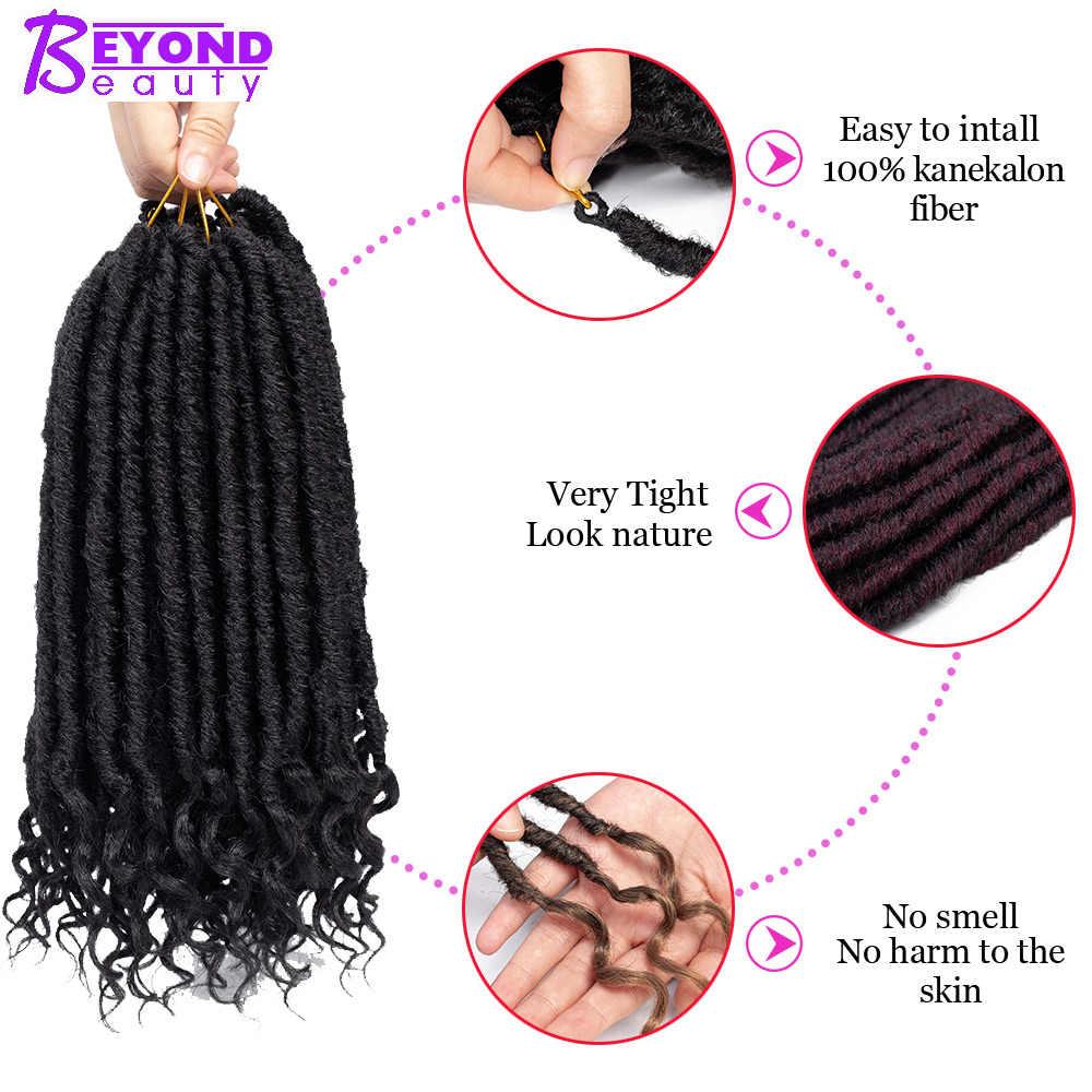 Синтетические дреды для наращивания волос 14 дюймов Ручной Работы богиня Locs 24 пряди за пределами красоты короткие косички для вязания крючком пряди для наращивания