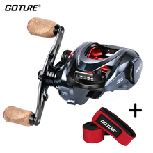 Goture Sea Fishing Reels Bait Casting Wheel Max Drag 22lbs/10kg Carbon Fiber Darg System 6.3:1 High Speed Baitcasting Reel