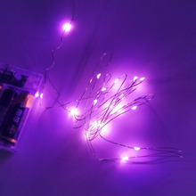 Simple and Portable Pink Color Copper Line LED Lighting Strings Festive Atmosphere Decoration 1-10 Meter Available
