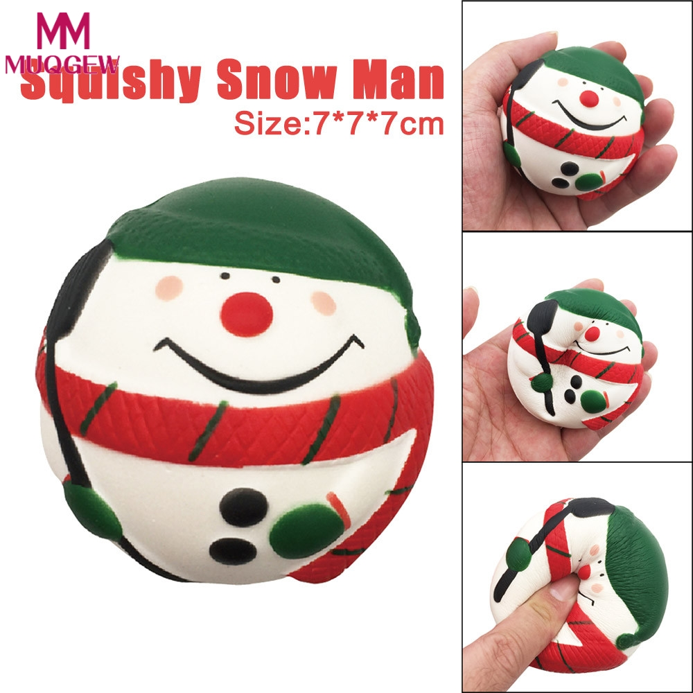 Exquisite Snow Man Scented Squishy Charm Slow Rising 7cm Simulation Kids Toys stress toy ...