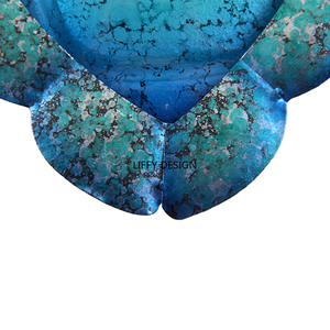 Image 5 - Liffy Gift Blue Metal Turtle Wall Artwork for Garden Decoration Outdoor Animal for Garden Statues Miniatures and Sculptures Yard