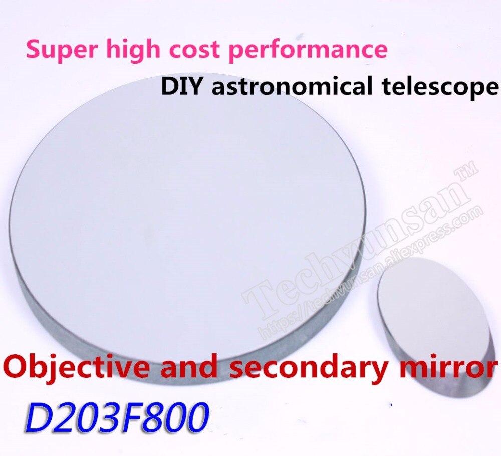 Ньютон Светоотражающие астрономический телескоп D203 F800 сферические зеркала и вторичный зеркала D203F800 DIY астрономического телескопа